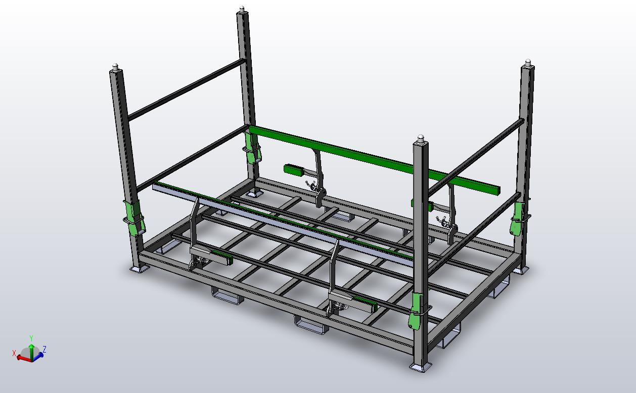 Fuel Tank Shipping Rack