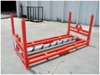 Suspended steel roll rack