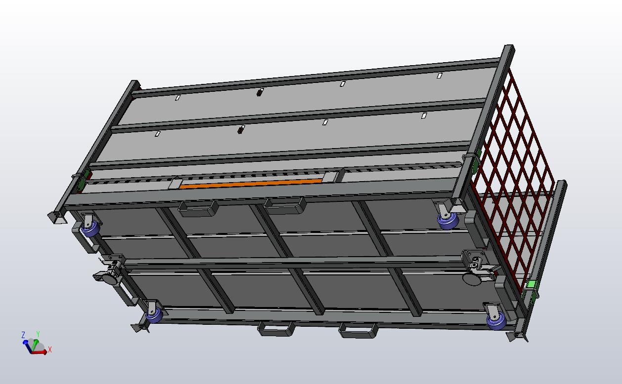 Foldable Steel Containers with Casters