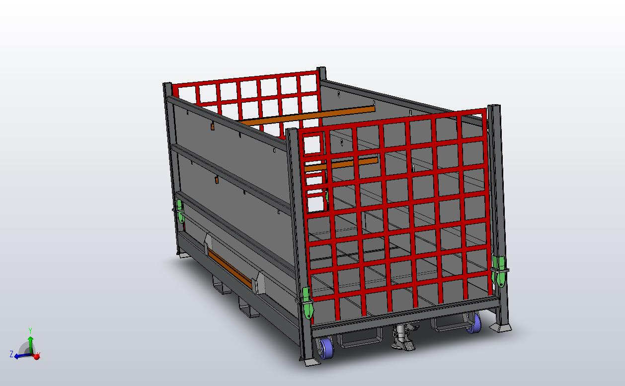 Foldable Steel Container End View
