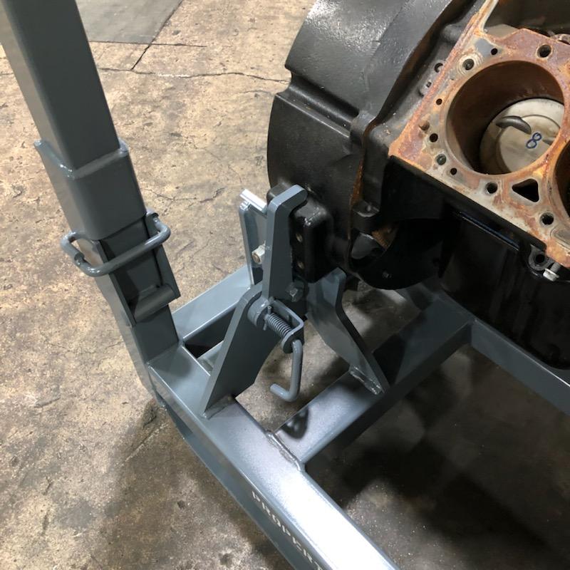 Pin locator in V8 Engine Rack