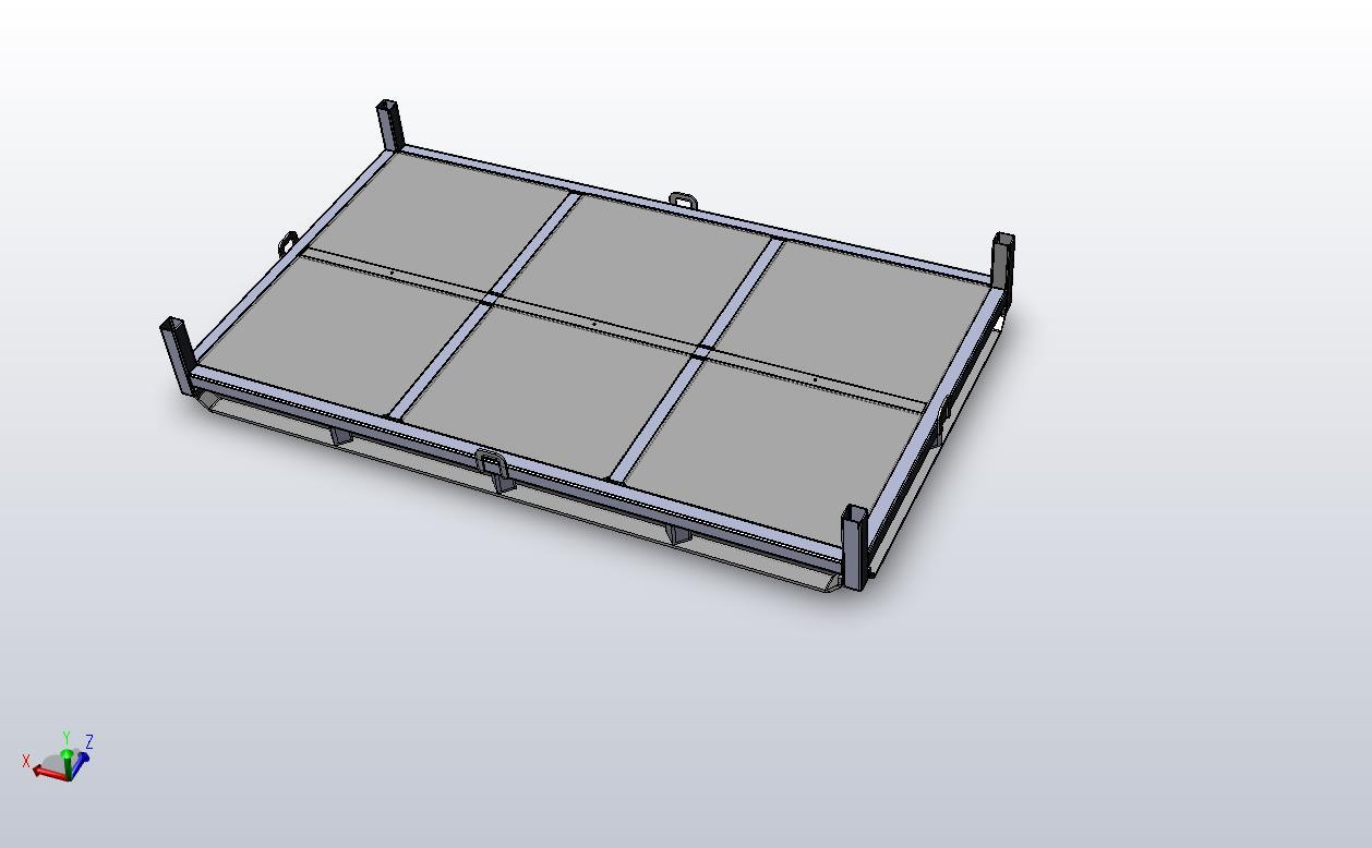 Flat deck steel pallet base
