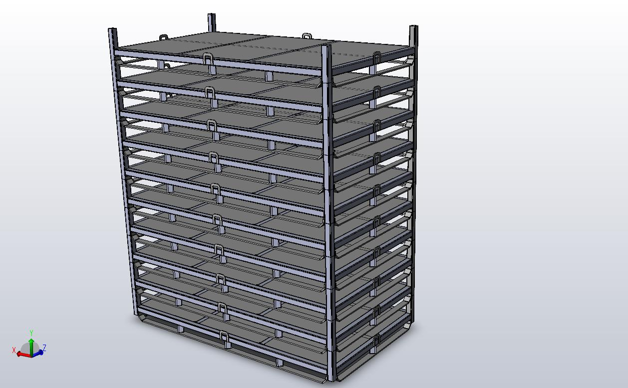 Pallet Stack on Flat deck Steel Pallet