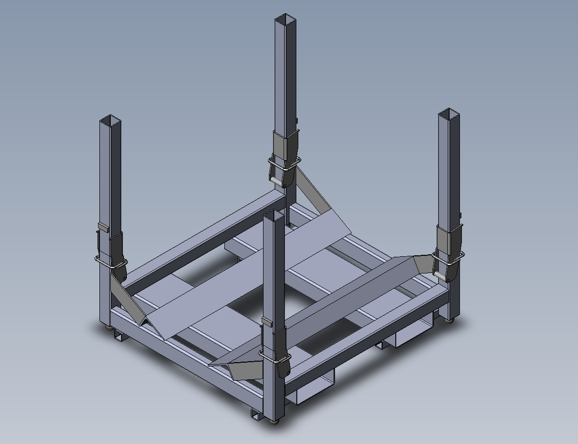 coil Rack with folding corners
